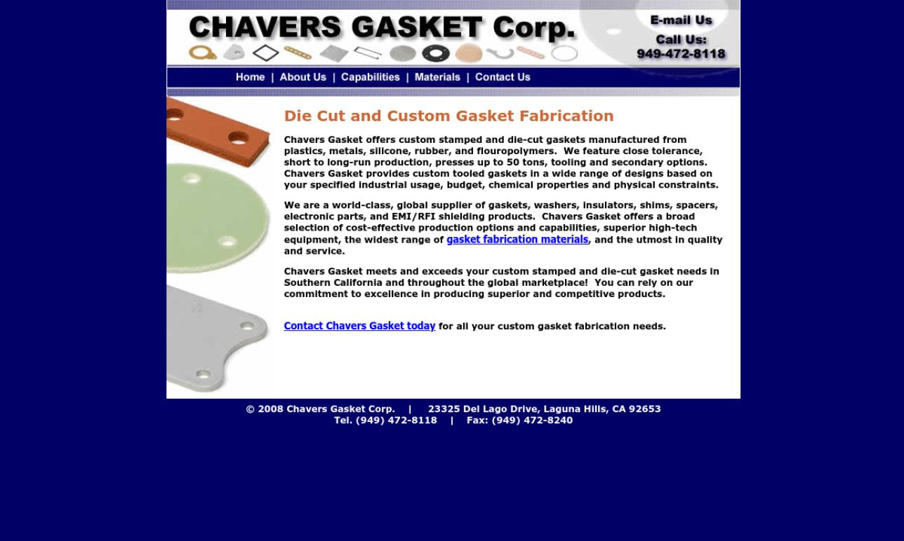 Chavers Gasket Corp.