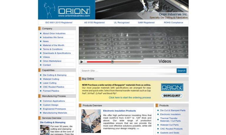 Orion Industries Incorporated