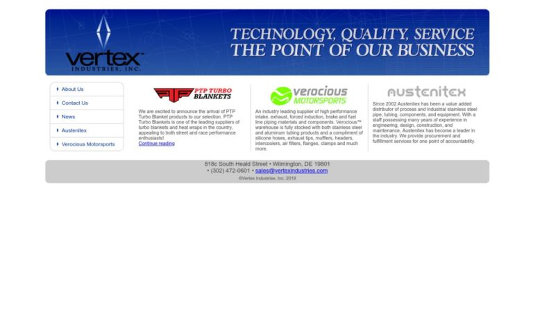 Vertex Industries, Inc.